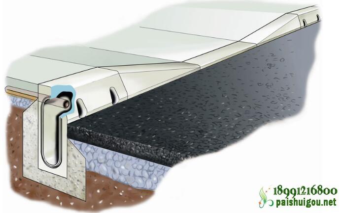 路缘石排水沟安装图